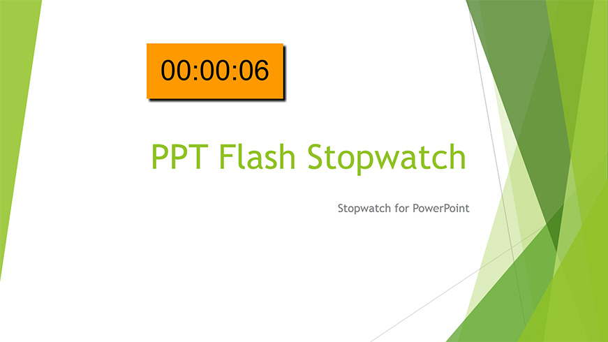 Stopwatch for PowerPoint for Windows