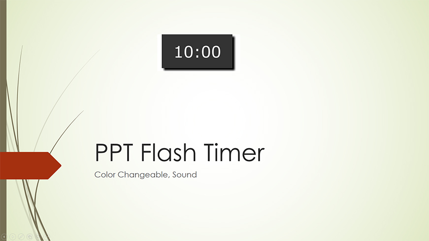 PPT Flash Timer set any time, play sound