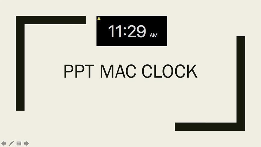 ppt mac clock ltc clock