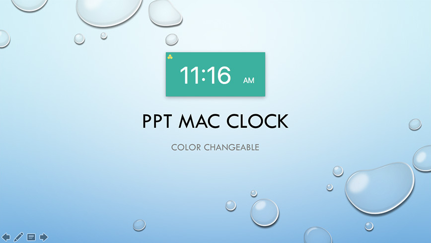 Clock for PowerPoint for Mac