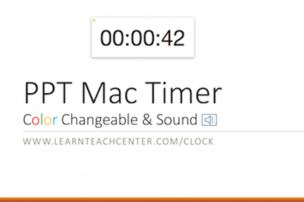 PPT Mac Timer Color Changeable, Sound