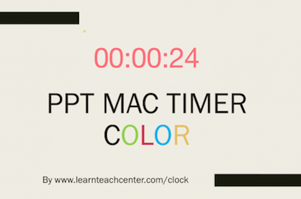 PPT Mac Timer, countdown timer for PowerPoint on Mac
