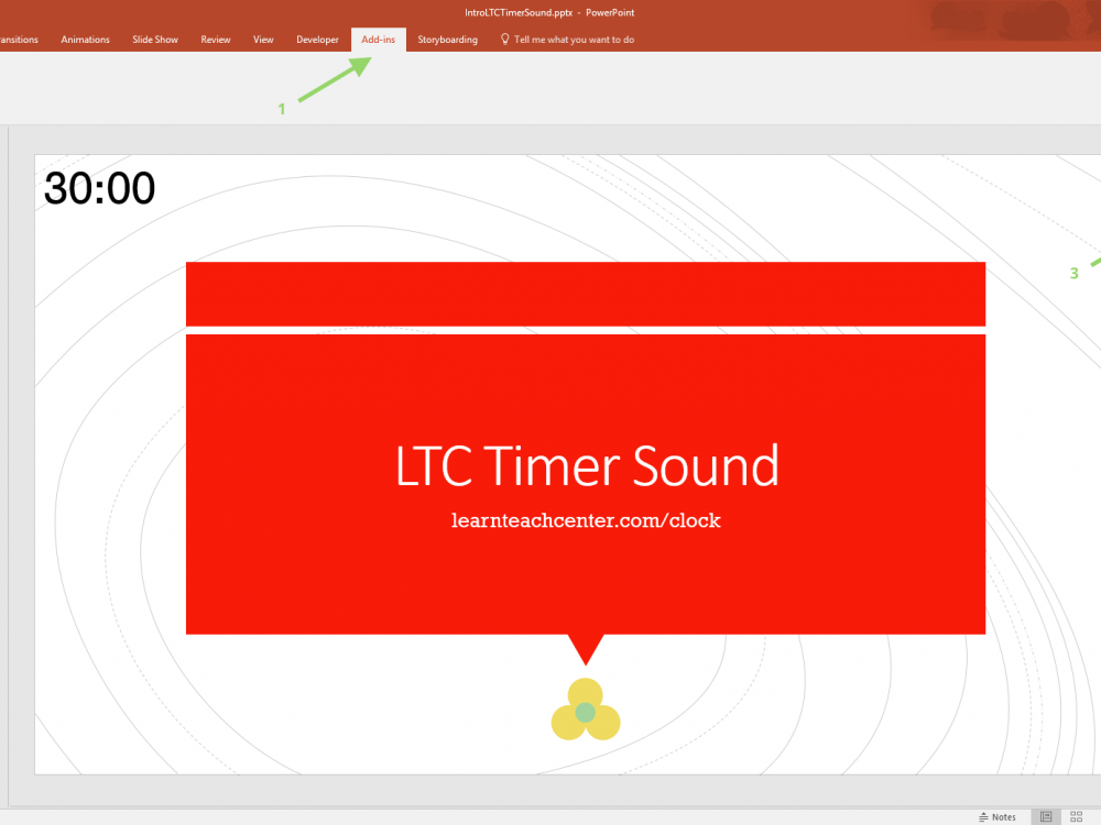 LTC Timer S - Countdown Timer for PowerPoint Slides