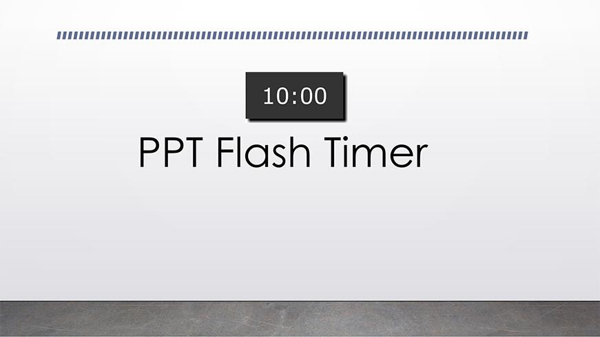 ppt flash timer b ltc clock